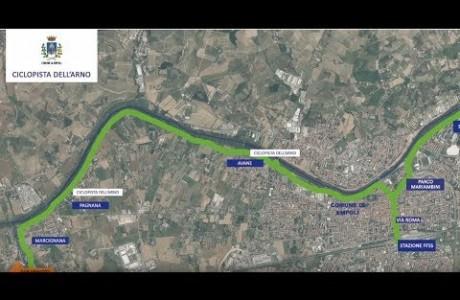 Ciclopista dell'Arno, a Empoli via ai lavori per un tratto di 10 km