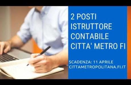 Concorsi, 2 posti di istruttore contabile nella Città Metropolitana di Firenze