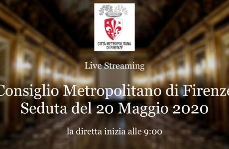 Consiglio metropolitano: la seduta del 20 maggio in diretta