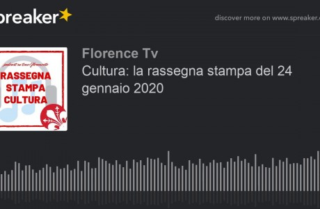 Cultura, al via rassegna stampa podcast su Florence TV