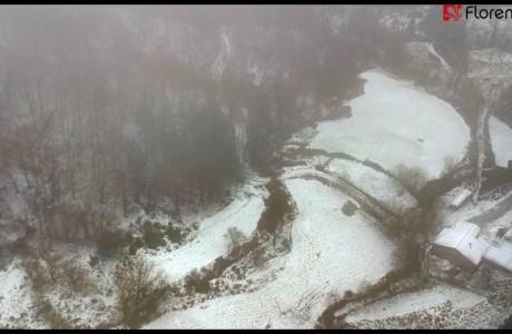 DRONE | Il Mugello imbiancato dalla neve