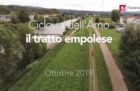 DRONE | La ciclopista dell'Arno – il tratto empolese
