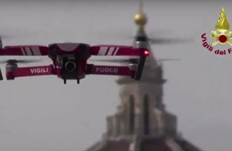 Droni, per monitorare le chiese
