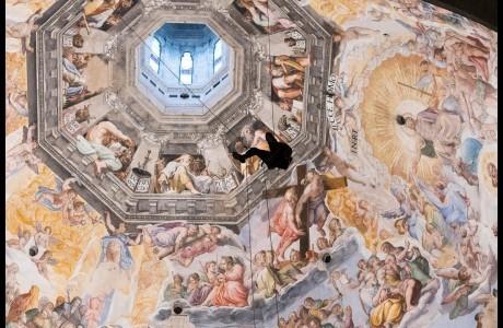 Duomo Firenze, il monitoraggio degli interni