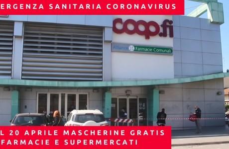 EMERGENZA CORONAVIRUS: dal 20 aprile 1,5 milioni di mascherine gratis al giorno per tutti i toscani