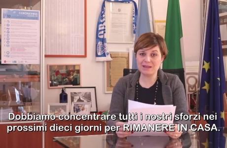 EMERGENZA SANITARIA CORONAVIRUS: videomessaggio di Brenda Barnini