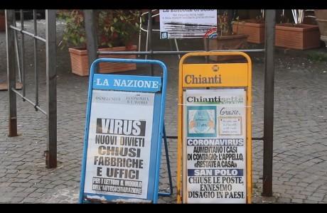 Emergenza sanitaria Coronavirus, le immagini da Impruneta e Greve in Chianti