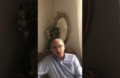 EMERGENZA SANITARIA CORONAVIRUS: videomessaggio di Nicola Armentano