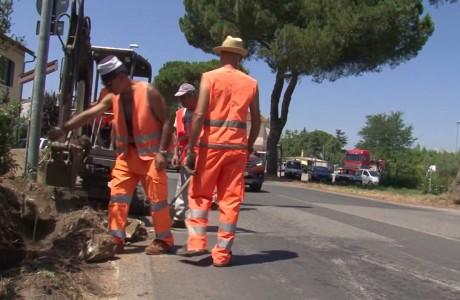 Empoli, nuovo semaforo sulla SR429 a Brusciana