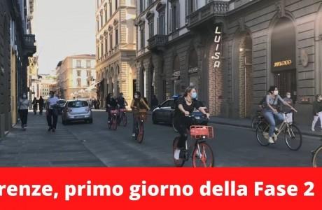 Firenze, 4 maggio 2020, il primo giorno della Fase 2