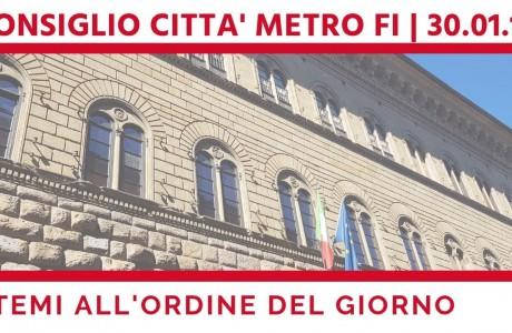 Firenze, consiglio della Città Metropolitana mercoledì 30 gennaio
