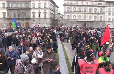 Firenze, manifestazione nazionale in ricordo di Idy Diene