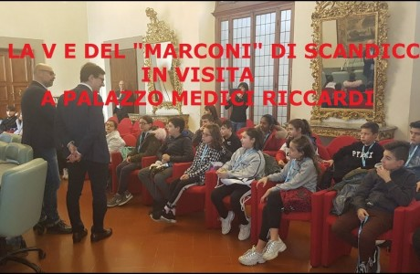 "Gli studenti della 5° E del ""Marconi"" di Scandicci in visita a palazzo Medici Riccardi"
