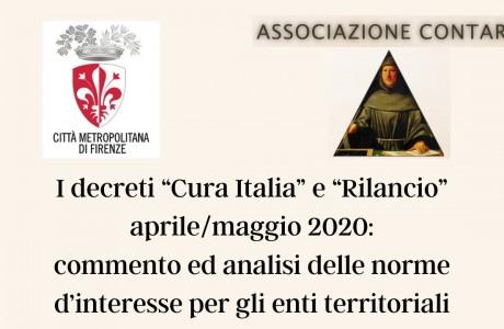 I decreti 'Cura Italia' e 'Rilancio' e gli enti territoriali: confronto online venerdì 22 maggio
