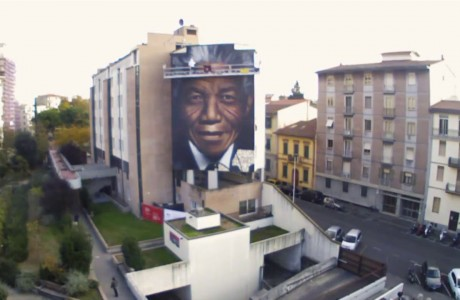 Il grande murale dedicato a Mandela inaugurato a 5 anni esatti dalla sua scomparsa