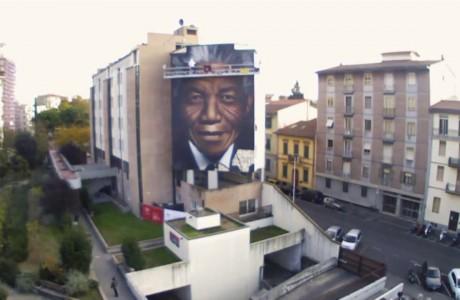 Il grande murale dedicato a Mandela inaugurato a 5 anni esatti dalla sua scomparsa