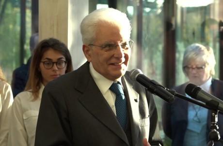 Il Presidente della Repubblica Sergio Mattarella a Firenze