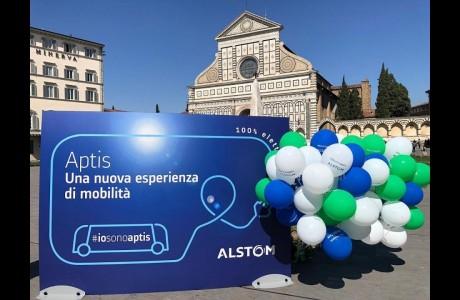 Io sono Aptis: in prova a Firenze il bus 100% elettrico