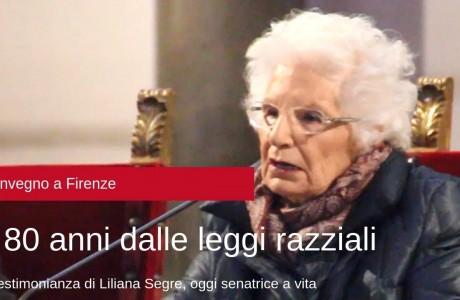 """Liliana Segre a Firenze: """"Il nemico è sempre l'indifferenza"""""""