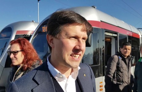 Nardella, test sulla linea T2 della tramvia