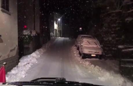 Nevicate in Mugello del 22 febbraio 2018
