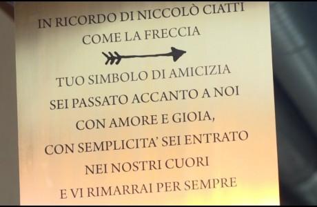 Niccolò Ciatti, una targa per ricordarlo