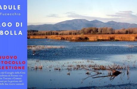 Padule di Fucecchio e lago di Sibolla, ok al protocollo d'intesa per la gestione delle riserve