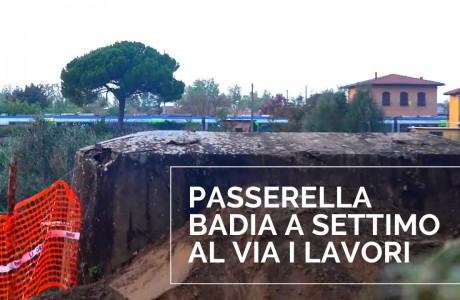 Passerella tra Badia a Settimo e San Donnino, al via i lavori