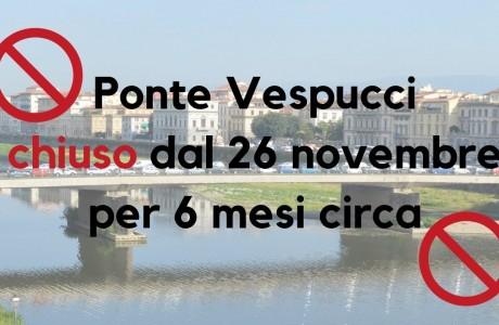 Ponte Vespucci, chiusura totale per lavori di messa in sicurezza