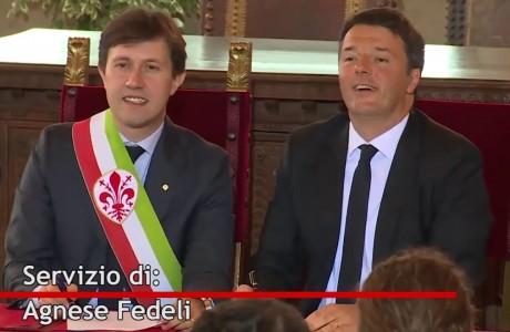 """Renzi e Nardella siglano il """"Patto per Firenze"""""""