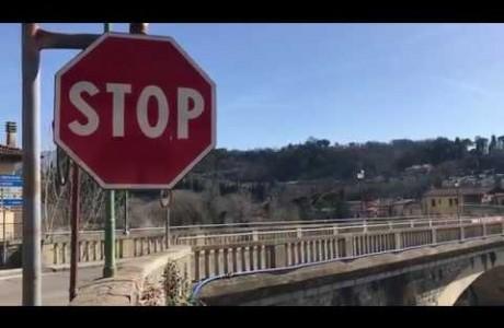 Rignano: chiude per lavori il ponte di San Clemente