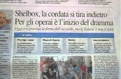 SHELBOX, 108 LAVORATORI IN MOBILITA'