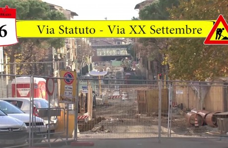 Tramvia Firenze, cantieri tra via dello Statuto e piazza della Costituzione