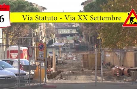 Tramvia Firenze, cantieri tra via dello Statuto e piazza della Costituzione
