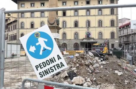 Tramvia Firenze, immagini da Piazza Stazione e Piazza dell'Unità Italiana
