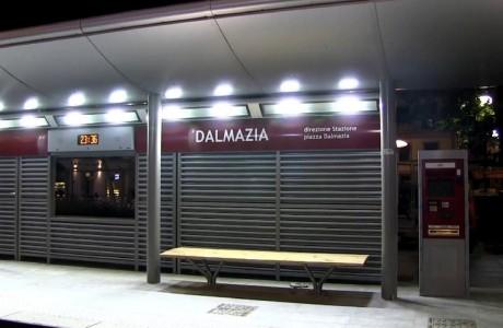 Tramvia Firenze, immagini da piazza Dalmazia