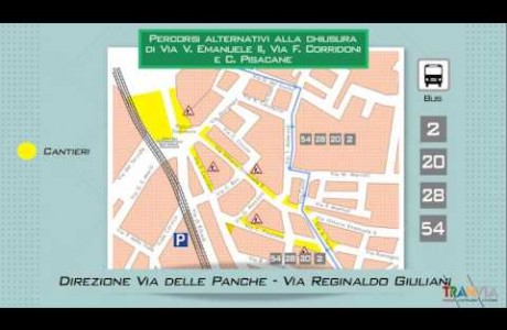 Tramvia Firenze, l'infografica sui cantieri autunnali 2016