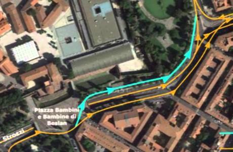Tramvia Firenze, nuova viabilità in zona Fortezza