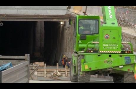 Tramvia Firenze, sopralluogo al cantiere del sottopasso Strozzi-Strozzi